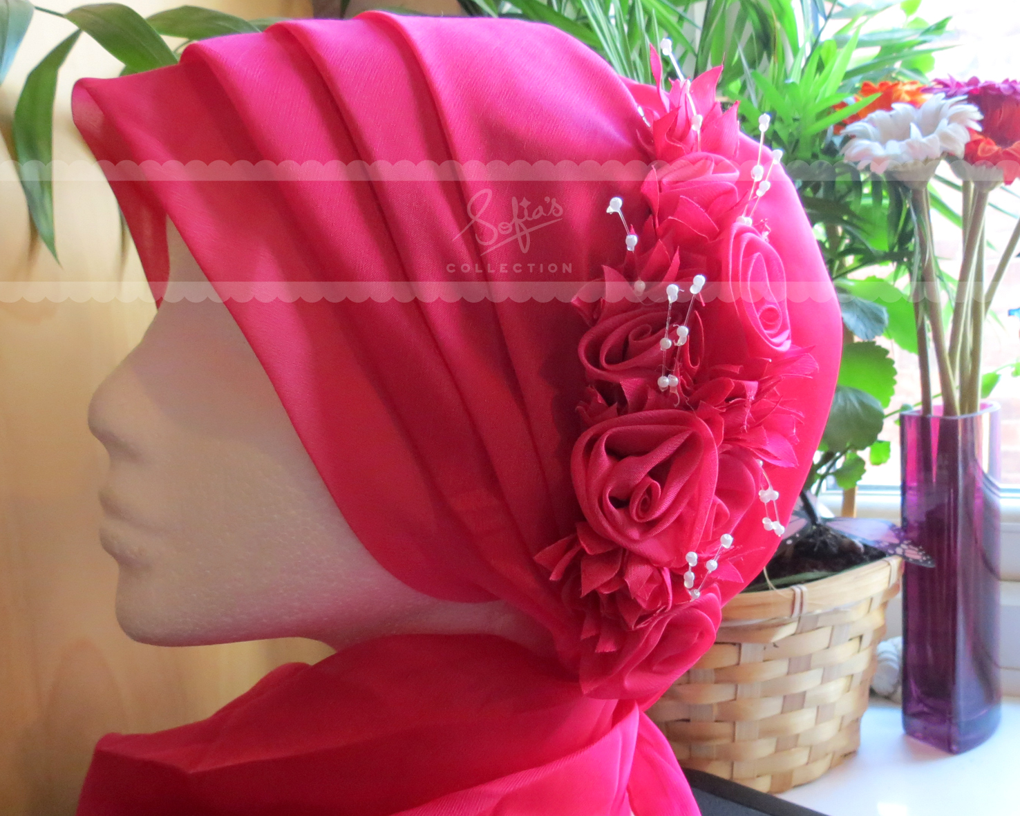 One Piece Special Occasion Hijabs Sofias Collection Headpiece Hijab